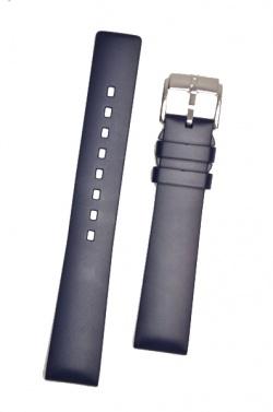Hirsch 'Pure' 22mm Blue Rubber Strap  - 40538880-2-22