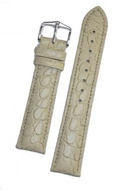Hirsch 'Aristocrat' 20mm Beige Leather Strap L - 03828090-1-20