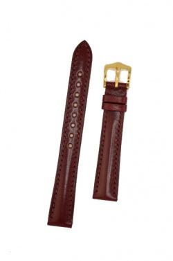 Hirsch 'Siena' M Burgundy, 16mm  Tuscan Leather Strap  - 04202160-1-16