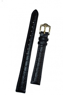 Hirsch 'Aristocrat' 12mm Black Leather Strap  - 03828150-1-12