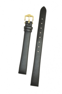 Hirsch 'Italocalf' Black ,M,  Leather Strap, 12mm - 17802050-1-12