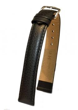 Hirsch 'Kansas' XL 18mm Black Leather Strap  - 01502250-2-18