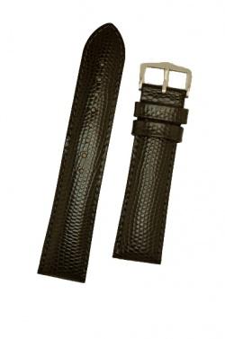 Hirsch 'Rainbow' M Black Leather Strap, 20mm - 12302650-2-20