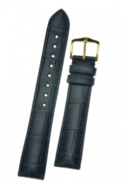 Hirsch 'London' Navy Blue Leather Strap, 20mm - 04207089-1-20