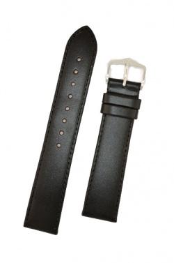 Hirsch 'Umbria ' M Black Leather Strap, 18mm - 13700250-2-18