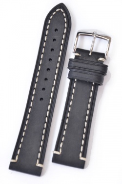 Hirsch 'Liberty' 20mm Black Strap  - 10900250-2-20