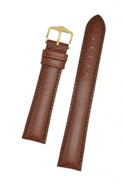 Hirsch 'Highland' L Brown, leather watch strap 18mm - 04302010-1-18