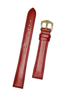 Hirsch 'Osiris' Red Leather Strap, 14mm - 03475120-1-14