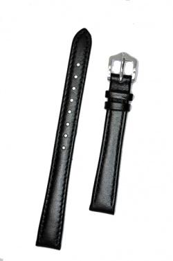 Hirsch 'Osiris' Black Leather Strap, 14mm - 03475150-2-14