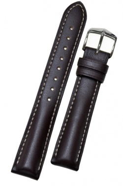Hirsch 'Heavy Calf' 18mm Brown Leather Strap  - 01475010-2-18