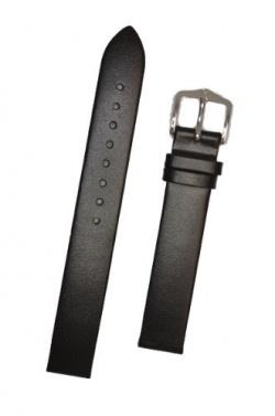 Hirsch 'Wild Calf' 14mm ,M.Black Leather Strap  - 13600250-2-14