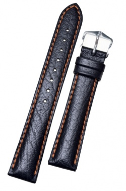 Hirsch 'Jumper' Black Leather Strap, 22mm - 04402052-2-22