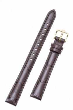 Hirsch 'Duke' Dark Brown Leather Strap, 14mm - 01028110-1-14