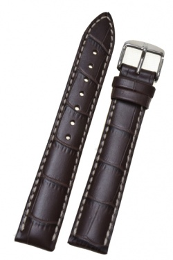 Hirsch 'Modena' Brown Leather Strap, 22mm - 10302810-2-22