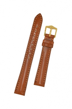 Hirsch 'Siena' M Golden Brown, 14mm  Tuscan Leather Strap  - 04202170-1-14