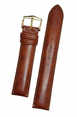 Hirsch 'Ascot' 17mm Golden Brown Leather Strap  - 01575070-1-17