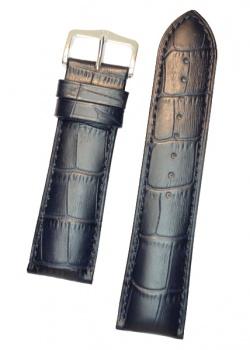Hirsch 'Duke' Blue Leather Strap, 18mm - 01028180-1-18