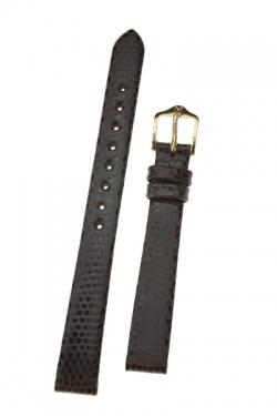 Hirsch 'Lizard' 12mm Brown Leather Strap  - 01766110-1-12