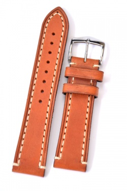 Hirsch 'Liberty' 24mm Golden Brown Leather Strap  - 10900270-2-24