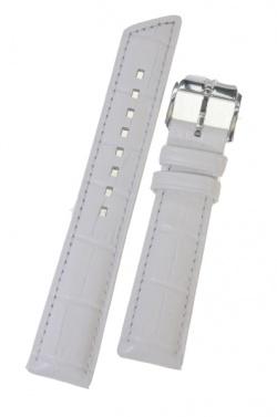 Hirsch 'Princess' White Leather Strap, 16mm - 02628101-2-16
