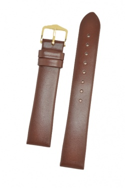 Hirsch 'Italocalf' Brown ,L,  Leather Strap, 18mm - 17822010-1-18