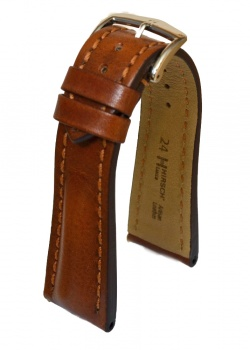 Hirsch 'Lucca' Golden Brown Leather Strap, 24mm - 04902070-2-24