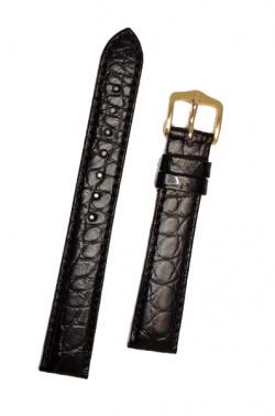 Hirsch 'Regent' M Black Leather Strap, 16mm - 04107159-1-16