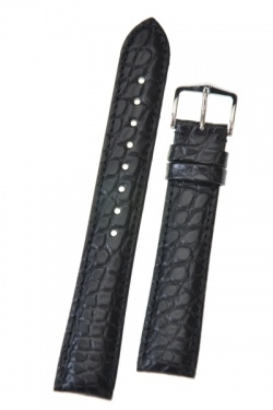 Hirsch 'Regent' Black Leather Strap, 18mm - 04107159-2-18