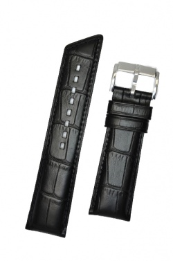 Hirsch 'Princess' Black Leather Strap, 20mm - 02628150-2-20