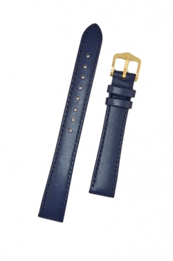 Hirsch 'Umbria ' M Blue Leather Strap, 14mm - 13700280-1-14