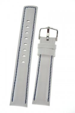 Hirsch 'Grand Duke' High Tech 20mm White Leather Strap  - 02528001-2-20