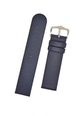 Hirsch 'Scandic' L Blue leather watch strap, 24mm - 17872080-2-24