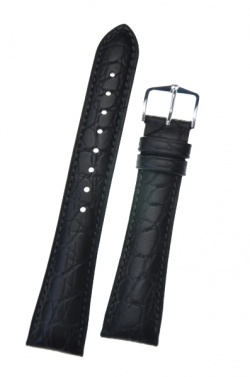 Hirsch 'Aristocrat' 18mm Black Leather Strap  - 03828050-2-18