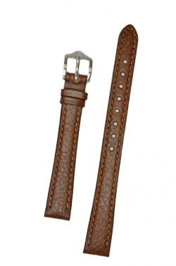Hirsch 'Forest' 12mm Brown Soft Calfskin Leather Strap  - 17900210-2-12
