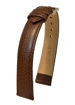Hirsch 'Kansas' XL 18mm Brown Leather Strap  - 01502210-2-18
