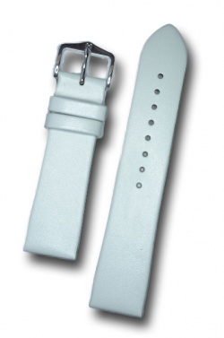 Hirsch 'Italocalf' White ,M,  Leather Strap, 18mm - 17802000-1-18