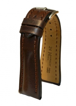 Hirsch 'Lucca' Brown Leather Strap, 24mm - 04902010-2-24