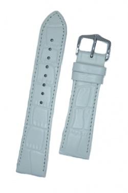 Hirsch 'LouisianaLook' M White Leather Strap, 24mm - 03427100-2-24