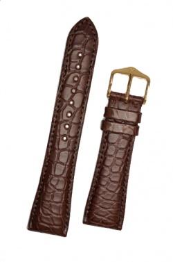 Hirsch 'Regent' M Brown Leather Strap, 17mm - 04107119-1-17