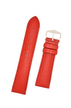 Hirsch 'Rainbow' M Red Leather Strap, 20mm - 12302620-2-20