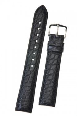 Hirsch 'Regent' Black Leather Strap, 18mm - 04107059-2-18