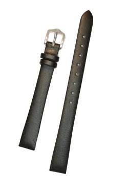Hirsch 'Diamond calf'' Black Leather Strap, L,16mm - 14120250-2-16