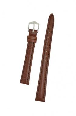Hirsch 'Highland' M Brown, leather watch strap 14mm - 04302110-2-14