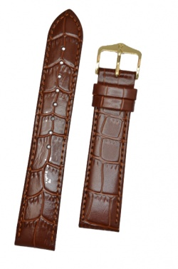 Hirsch 'LouisianaLook' M Brown Leather Strap, 16mm - 03427110-1-16