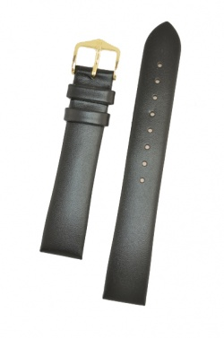 Hirsch 'Italocalf' Black ,M, Leather Strap, 18mm - 17802050-1-18