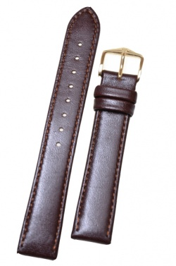 Hirsch 'Osiris' L Brown Leather Strap, 20mm - 03475010-2-20