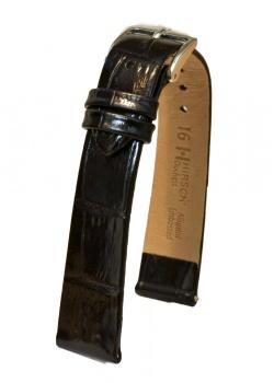 Hirsch 'Duchess' 16mm Black Leather Strap  - 02728150-2-16