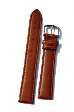 Hirsch 'Merino-Artisan' Tan Leather Strap, 18mm - 01206070-2-18