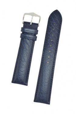 Hirsch 'Highland' M Blue, leather watch strap 16mm - 04302180-2-16