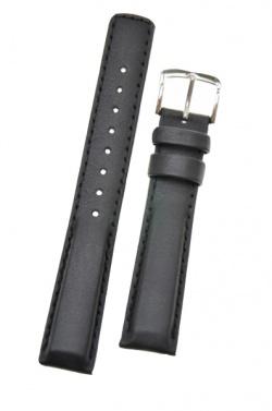 Hirsch 'Runner' 20mm Black Leather Strap  - 04002050-2-20